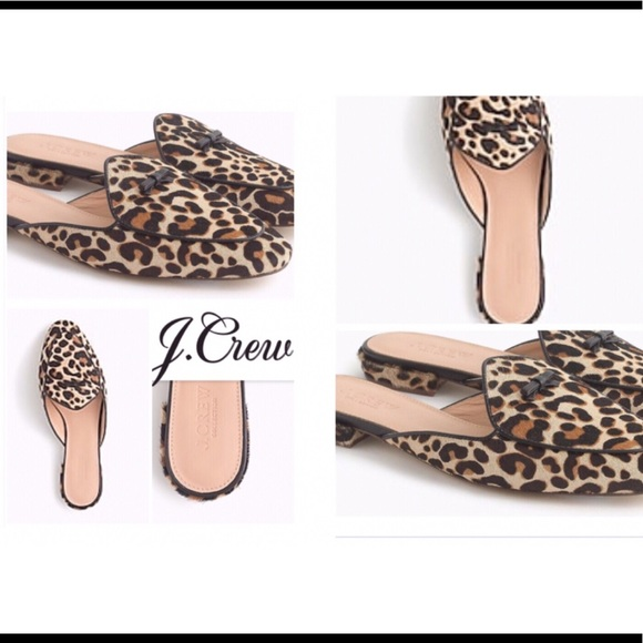 4d53eec49df2 J. Crew Shoes | Jcrew Calf Hair Leopard Piped Loafers | Poshmark